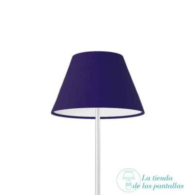 pantalla lampara empire azul oscuro