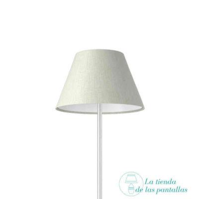 pantalla lampara empire lino blanco