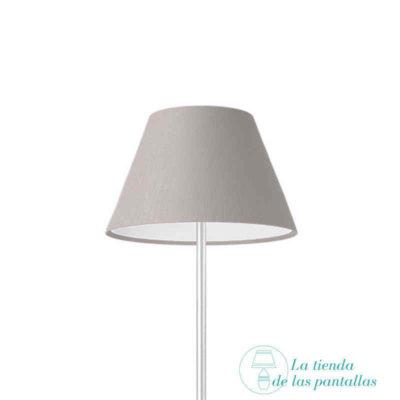 pantalla lampara empire lino gris