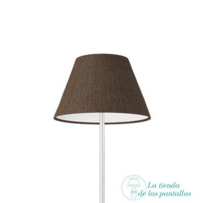 pantalla lampara empire lino marron