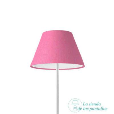 pantalla lampara empire lino rosa