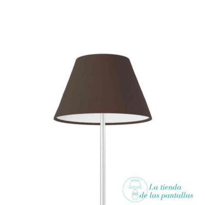 pantalla lampara empire marron