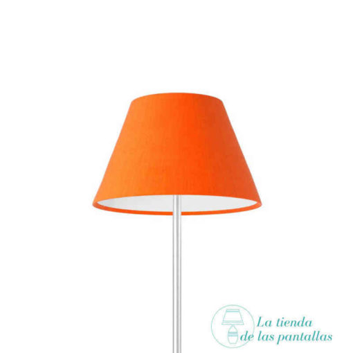 pantalla lampara empire naranja