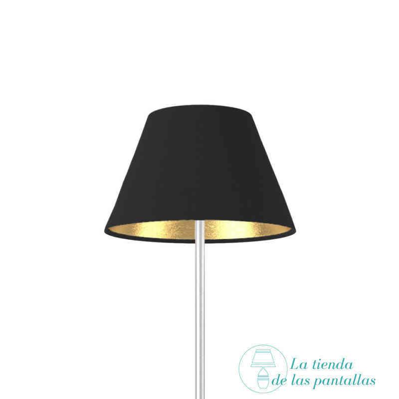 Pantallas de lámpara negras con interior metalizado