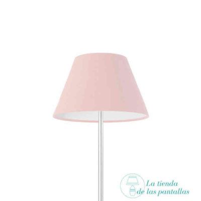 pantalla lampara empire rosa