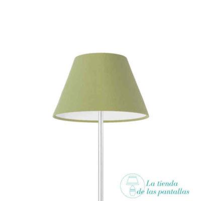 pantalla lampara empire verde oliva