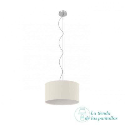 pantalla lampara techo cilindrica blanca