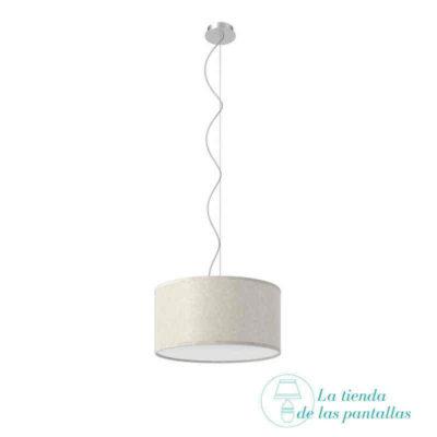 pantalla lampara techo cilindrica pergamino claro