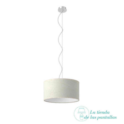 pantalla lampara techo cilindrica rugoso blanco