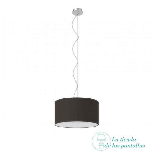 pantalla lampara techo cilindrica yute negro