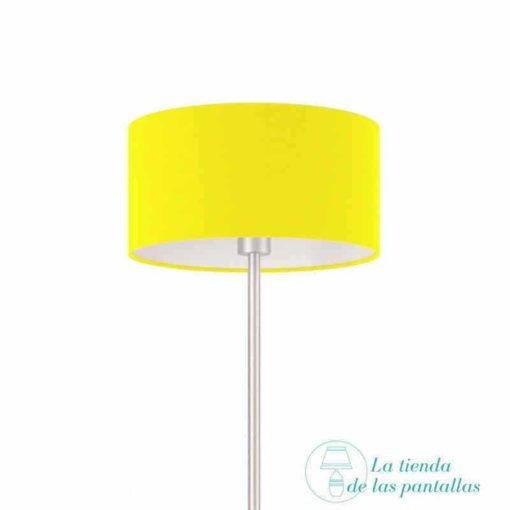 pantalla para lamparas cilindrica amarilla