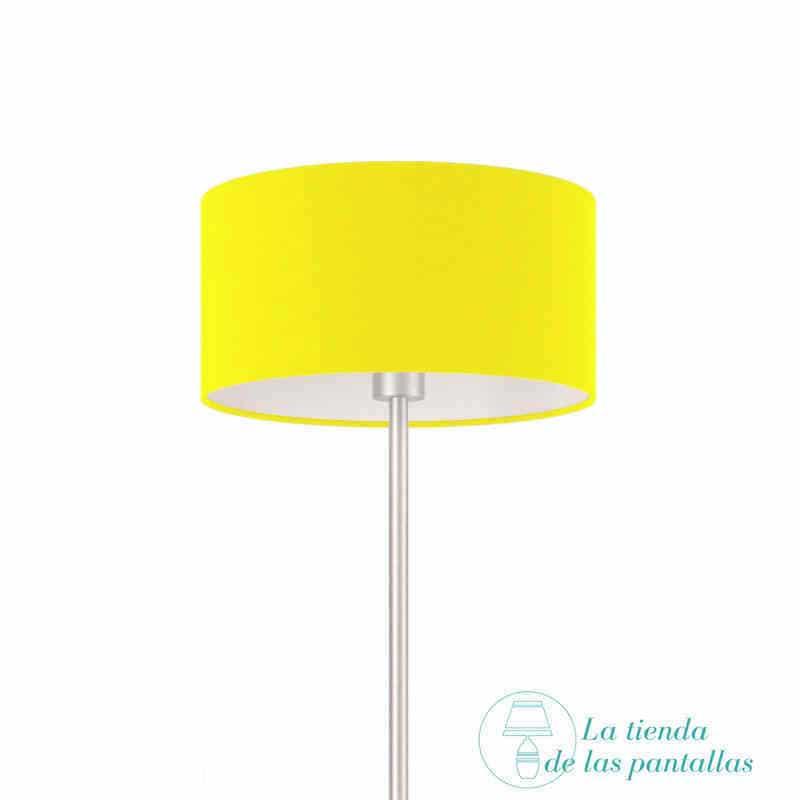 Pantalla Para Lámparas Cilíndrica Amarilla La Tienda De Las Pantallas