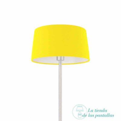 pantalla para lamparas conica amarilla