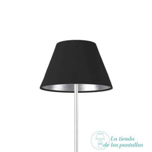 pantalla lampara empire negro y plata