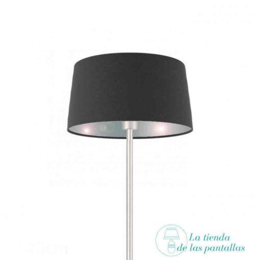 Pantalla para lámparas cónica negro y plata