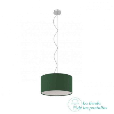 pantalla lampara techo cilindrica verde scuro