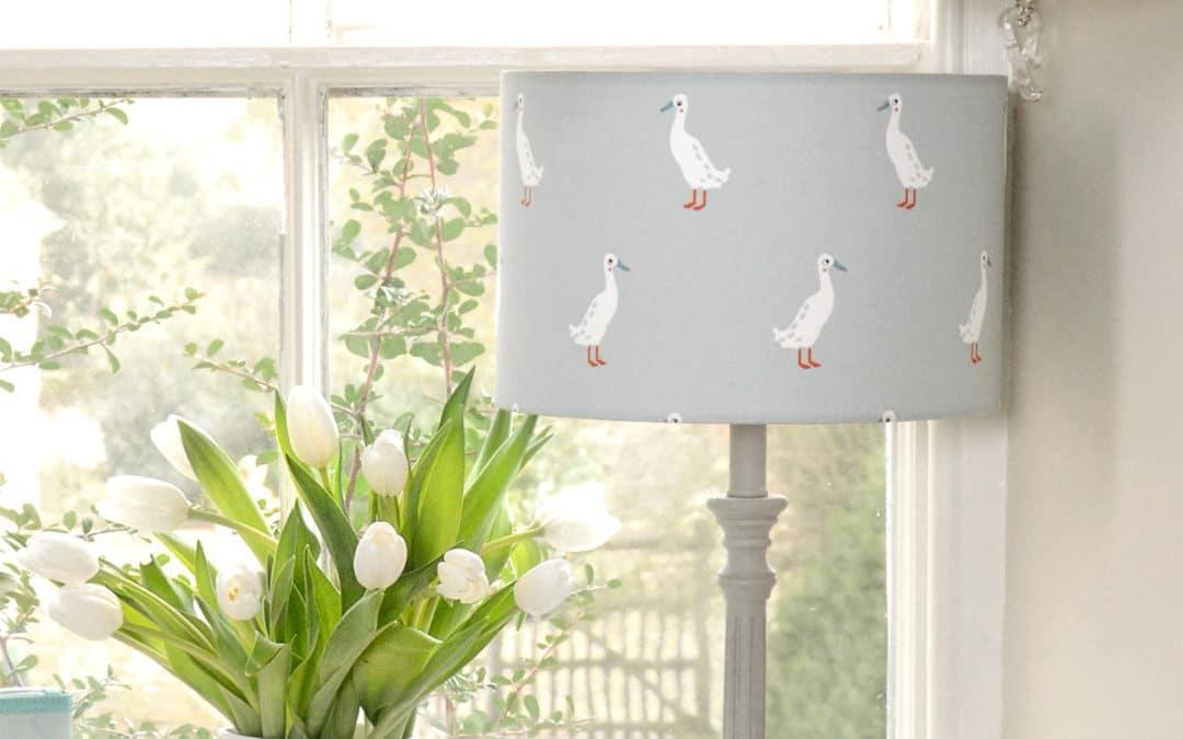 pantallas de lámparas coordinadas
