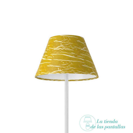 Pantalla para lámparas empire oro