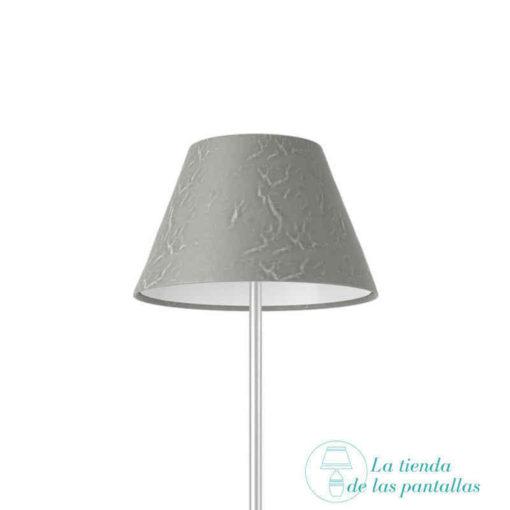 Pantalla para lámparas empire plata