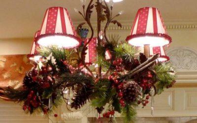 Pantallas de lámpara navideñas