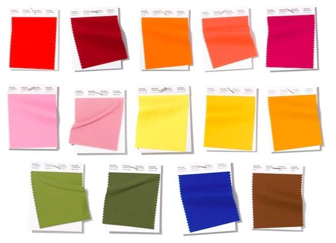 colores de moda primavera verano pantone