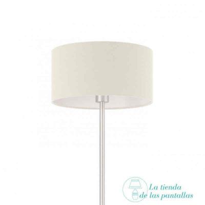 Pantalla de lámpara cilíndrica blanco roto
